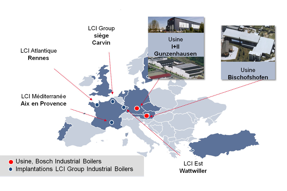 Implantations / sites LCI group